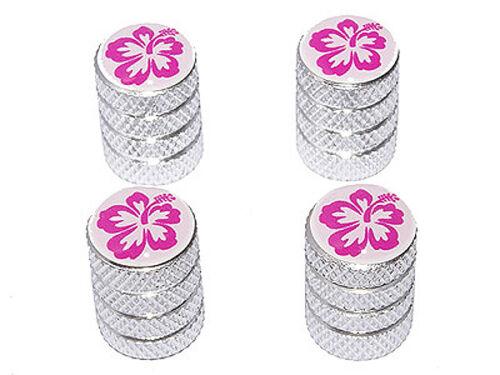 Aluminum Hibiscus Flower Tire Rim Valve Stem Caps
