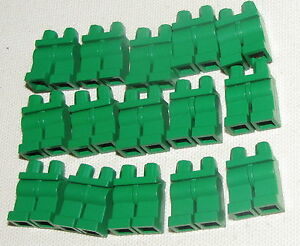 LEGO-15-GREEN-PANTS-LEGS-BODY-PARTS-HIPS-FOR-MINIFIGS-FIGURES-CASTLE
