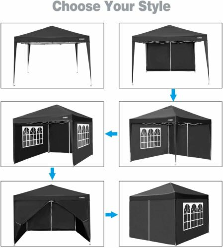 Details about  /10/'x10/' Right Angle Folding Shed 4 Side Panels Tent Picnic Outdoor Shelter