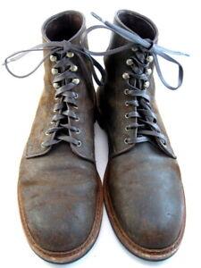 Allen-Edmonds-034-Higgins-Mill-034-Boots-12-B-Waxed-Suede-Brown-Made-in-USA-552