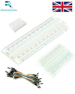 Solderless-Prototype-PCB-Breadboard-170-400-830-Hole-Optional-X40-Jump-Wires