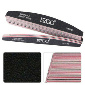 25pcs-Nail-Files-100-180-Grit-Double-Sided-Sanding-Buffer-Polisher-Manicure-Tool