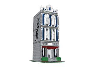 Lego-Custom-Modular-Building-European-Boutique-Hotel-INSTRUCTIONS-ONLY-PDF