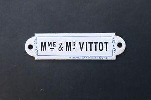 Plaque-emaillee-d-039-utilite-VITTOT-emaillerie-Paillard-Battant-enamel-sign