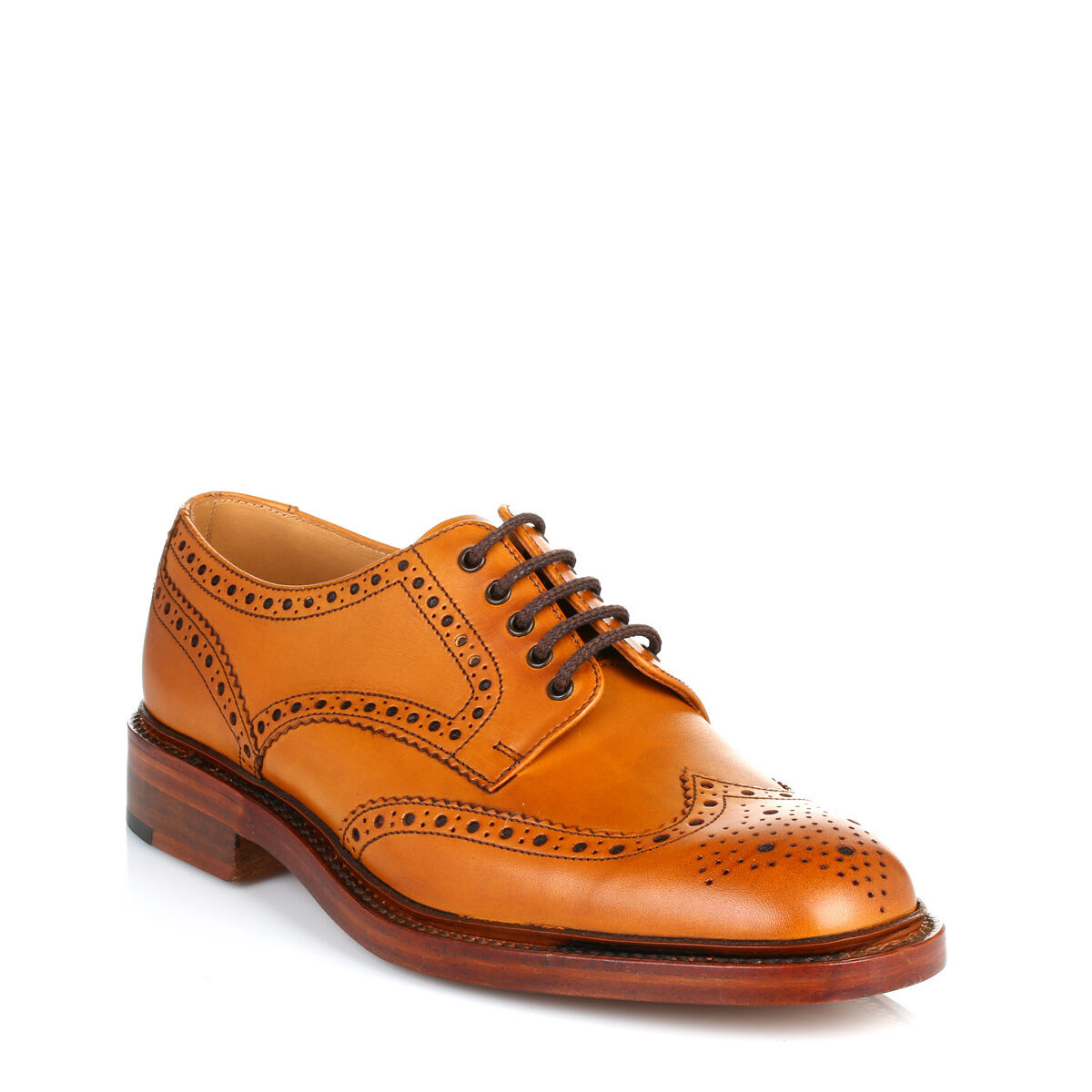 Loake Da Uomo Tan Brown CALATA Scarpe Derby, Smart Casual Chet 2