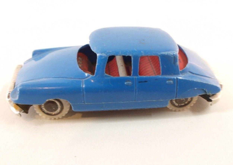 Citroën DS 19 Made in Japan en plastique et plancher métal 9,5 cm RARE toy car