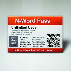 N-Word-Pass-034-Customized-034-OFFICIAL-With-Custom-QR-Code-Designed-Like-an-ID