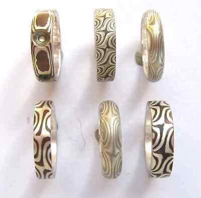 Mokume Wedding band SIze 8