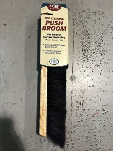 "18/"" FINE CLEANING PUSH BROOM POLY DBQ INDUSTRIES #10602 E001"