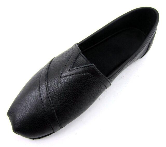 Black Leather Non-slip Rubber Sole