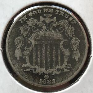 1882 Shield Nickel 5 Cents 5c Better Grade RARE #12749
