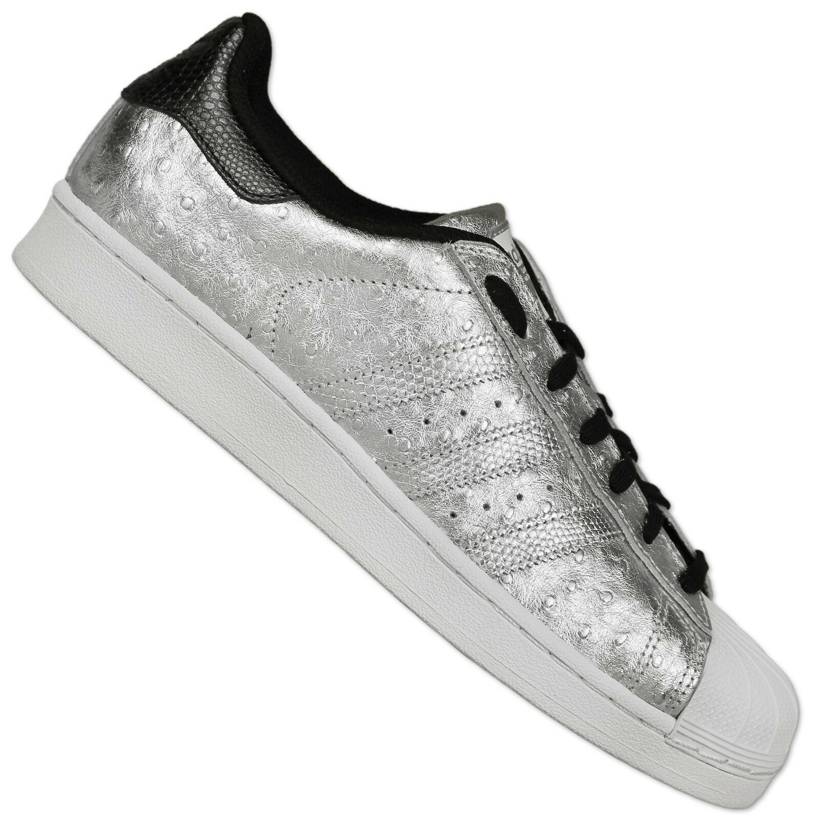 Adidas Originals Superstar plata Zapatillas Deportivas Party AVESTRUZ plata Superstar metal 42 b334ff
