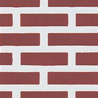 Dollhouse Houseworks Red Brick Molded Vinyl Siding Hw7314