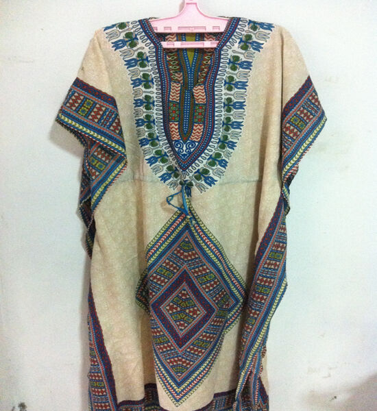 LONG MAXI DRESS HIPPIE CASUAL  MULTI COLOR HOBO TUNIC LADY FREE SIZE S-XXL