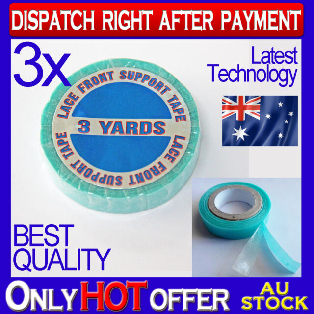 3x BLUE DOUBLE SIDED HAIR TAPE for TAPE/ SKIN WEFT HAIR EXTENSIONS HOLD 12 wks