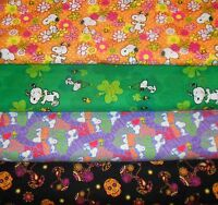 Snoopy 1 Fabrics Sold Individually Not As A Group By The Half Yard