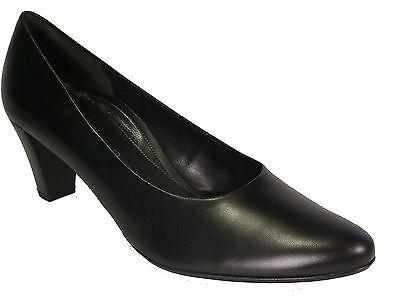 GABOR Schuhe Pumps schwarz Echt Leder   G-Weite Soft Move Absatz 55 mm NEU