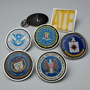 US SPY / AMERICAN LAW ENFORCEMENT Pin Badge Collection ...