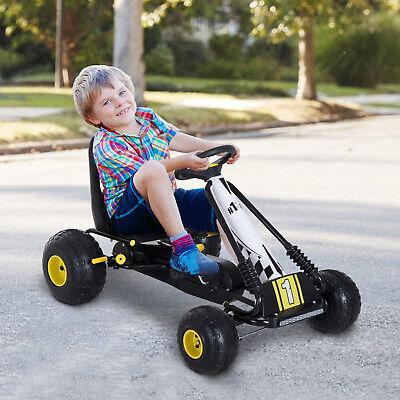 Go Kart Coche de Pedales de Acero para Niños 3-6 Años Carga 35kg 95x66.5x57cm