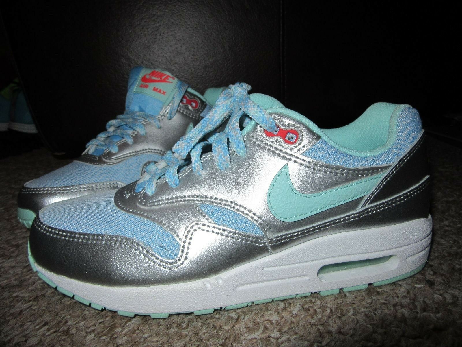 NEW Womens NIKE Air MAX Trainers UK 4.5 Metallic Metallic Metallic Silver Mint Green EU 37.5 shoes a8953a