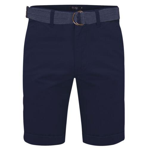 Mens Stretch Chino Shorts Knee Length Cargo Combat Pants Cotton Free Belt 30-48