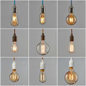 Image Is Loading Filament Light Bulb LED Edison Vintage Squirrel Cage