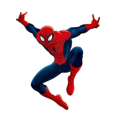 Details about  /3D effect Spiderman wall stickers cartoon movies Kids Rooms decals Home Decor