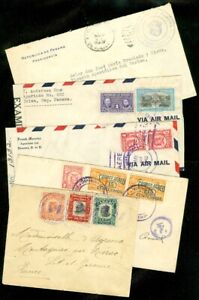 EDW1949SELL-PANAMA-Collection-of-5-older-covers-including-Better-usages