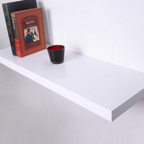 High Gloss Floating Wall Shelf Wooden Mount Shelves Book Storage Display Units
