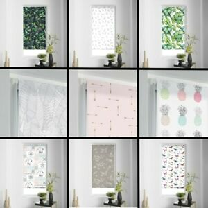 Patterned-Daylight-Ready-Made-Window-Roller-Blinds-45-60cm-Width-Various-Colours