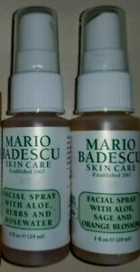 Details About Mario Badescu Facial Spray With Aloe Herbs Rosewater Or Sage Orange Blossom