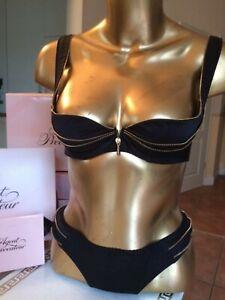 AGENT PROVOCATEUR Luxus Dessous SET CLARICE Soiree BH 75B Slip Gr 2 S 36 NEU