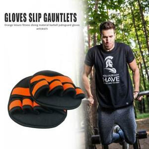 2x-Training-Gloves-Non-slip-Gym-Fitness-Exercise-Grip-Pads-Protector-Free-Size