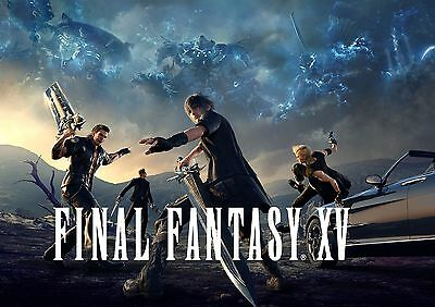 A1 - A5 SIZES AVAILABLE FINAL FANTASY XV 15 GAME WALL ART POSTER