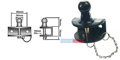 50MM COMBINED BALL AND PIN COUPLING TOW HITCH EU APPROVED