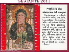941 SANTINO HOLY CARD PREGHIERA ALLA MADONNA DEL SANGUE