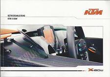KTM Sportcar X - BOW Betriebsanleitung 2008 Bedienungsanleitung Handbuch BA
