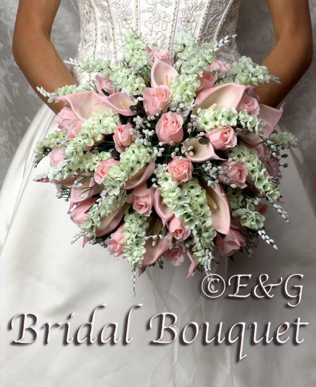 GORGEOUS ANNA BELLE rose Wedding Bouquets Bouquet Bridal Bridesmaid Flowers silk