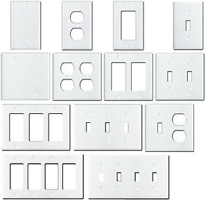 Image is loading Wrinkle-White-Textured-Metal-Wall-Plate-Covers-Switch- b7982f6f4