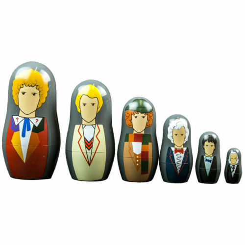 *NEW* Dr Doctor Who 1st - 6th Doctors Nesting Doll Set - Babushka Dolls 6 pc set