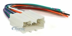 scosche mi02b aftermarket stereo wire harness for select 94 up image is loading scosche mi02b aftermarket stereo wire harness for select