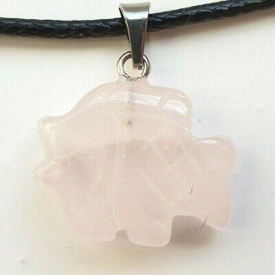 Pez de talladas a mano Colgante Collar De Piedra de Curación de Cuarzo de Cuerda de Cuello Estilo Único