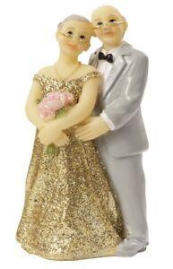 Details Zu Hochzeitspaar Tortenfigur Goldpaar 8cm Deko Brautpaar Goldene Hochzeit Figur