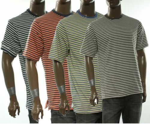 NEW MENS IZOD CREW NECK STRIPE SHORT SLEEVE T SHIRT TEE