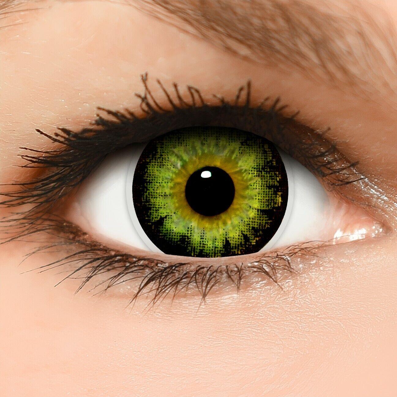 BigEyes Circle Lenses grün Green schwarz ohne und mit Stärke GRATIS Behälter