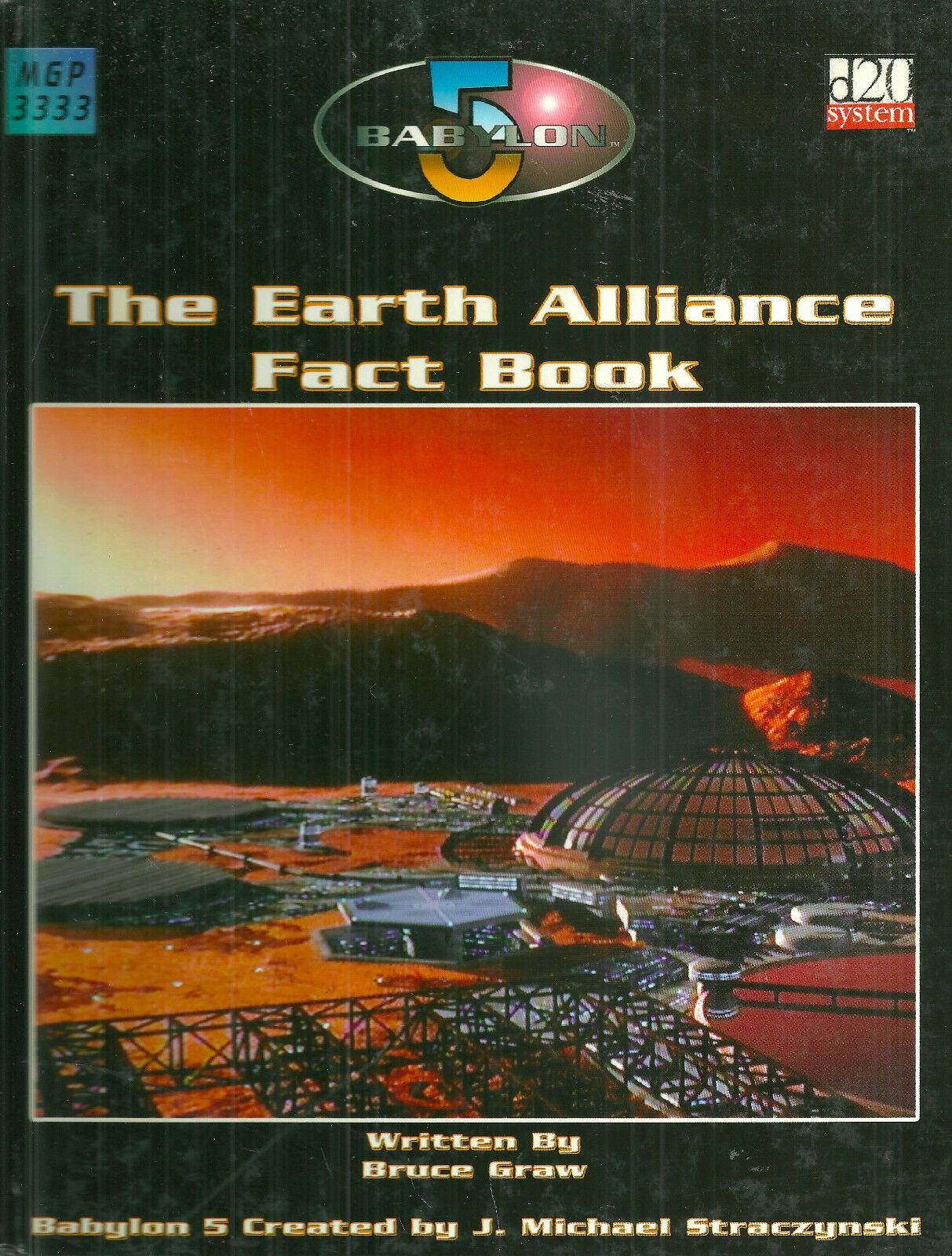 GRAW  BABYLON 5  THE EARTH ALLIANCE FACT BOOK  2003 1ST ED HC VG RPG RARE