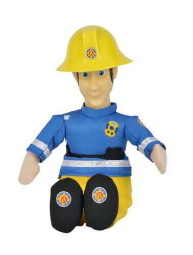 Film- & TV-Spielzeug Simba Feuerwehrmann Sam 25cm Plüschfigur mit Vinylkopf Spielzeug Stoff Puppe