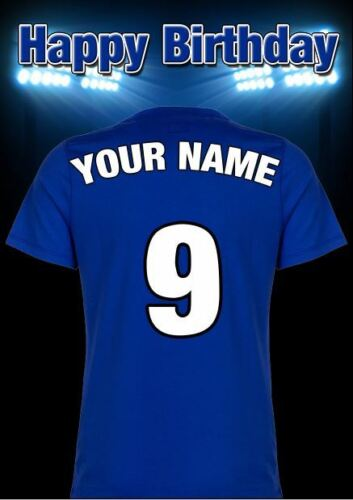 A5 Personnalisé Millwall shirt football de Voeux Carte d/'Anniversaire tout nom pidmff 4
