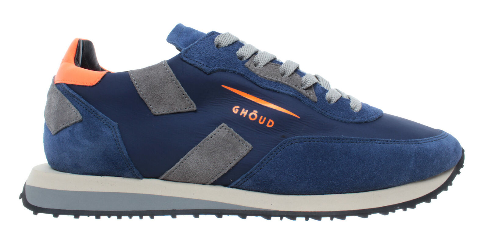 Chaussures hommes Turnchaussures GHOUD Venice Rush Man bleu Orange Fluo bleu Nouveau