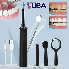 Electric Tooth Calculus Remover Cleaner Dental Tartar Scaler Whitening Recharge